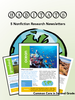 Habitat Newsletter- Nonfiction Text!  Research!