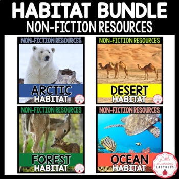 Habitat Non-Fiction Resources {Close Reads & Informational Text} BUNDLE