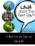 Habitat Non Fiction Text Packet