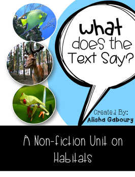 Habitat Non Fiction Text Packet