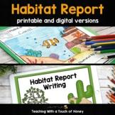 Habitat Research Project: Habitat Report Printable & Digital For Google Slides™