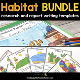 Informative Writing Templates | Habitat Activities | Habit