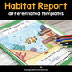 Habitat Research Project - Trading Cards and Report Writing Templates BUNDLE