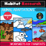 Habitat Research: Animal Adaptations First Grade