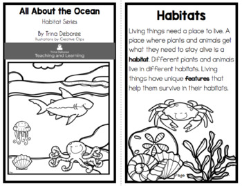 Habitat Series: All About The Ocean Science Reader