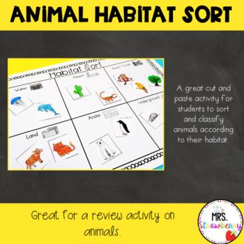 Science Animal Habitat Sort {Cut and Paste}