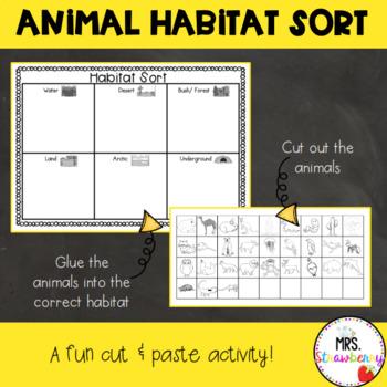 Animal Habitat Sort {Cut and Paste}