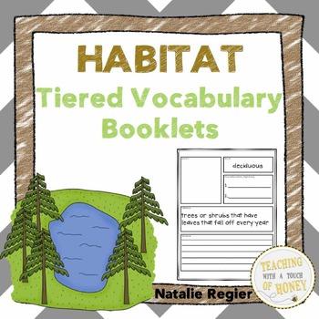 Vocabulary Activities | Vocabulary Graphic Organizers | Habitat Vocabulary