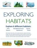 Habitat Unit: Arctic, Desert, Rainforest, Woodland Forest, Ocean, & Pond