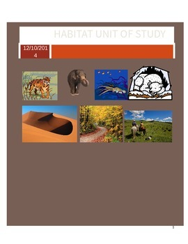 Habitat Unit Study