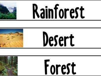 Habitat Vocabulary Cards