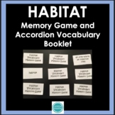 Habitat Vocabulary Memory Game with Word Wall Definition Cards