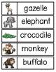 Habitat Words Cards
