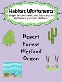 Habitat Worksheet Pack