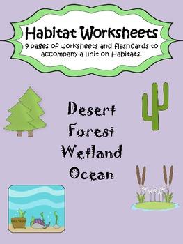 habitat worksheet pack by mizell multiage teachers pay teachers. Black Bedroom Furniture Sets. Home Design Ideas