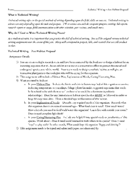 Habitat - Zoo Habitat Proposal - Technical Writing Assignm