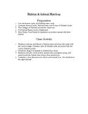 Habitat and Animal Class Matching Activity