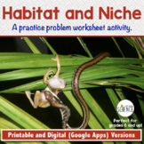 Habitat and Niche | Printable and Digital Versions | Distance Learning