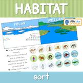 Habitat animal sorting