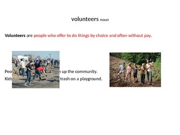 Habitat for Humanity and other Community Leaders Vocabulary PowerPoint