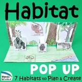 Habitat of Animals Pop-up Craft Activities - 7 Animal Habitats to Make