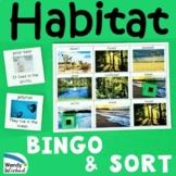 Animal Habitat Science BINGO & Sort Game