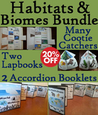 Ecosystems Interactive Notebooks Bundle: Animal Habitats and Biomes Activities