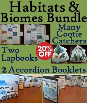 Ecosystems Interactive Notebooks Bundle: Animal Habitats and Biomes Activities