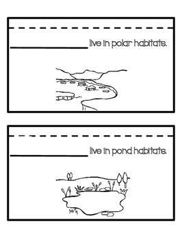 Habitats flip book