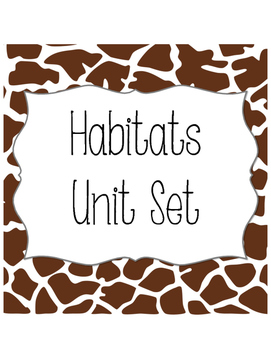 Habitats Notebooking Set {Aligned to SC Standards}