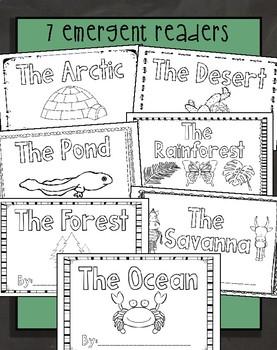Habitats {7 Emergent Readers for the Beginner}