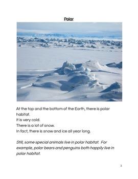 Habitats:  A Mini Book for ESL Students