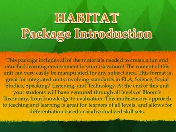 Habitats Around the World Integrated Unit