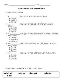 Habitats Assessment