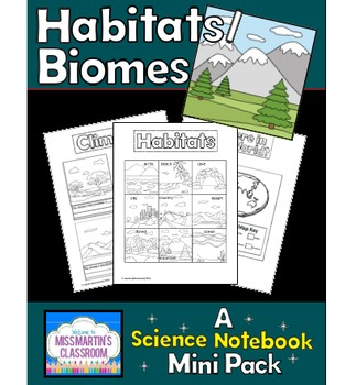 Habitats and Biomes Interactive Notebook