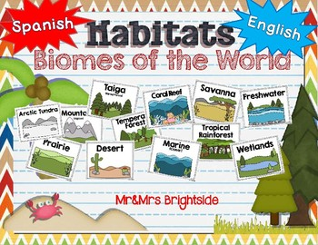 Habitats: Biomes of the World - English and Spanish