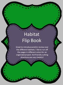 Habitats Book for Students!