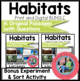 Habitats Bundle Reading Comprehension Passages {Digital an