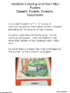 Habitats Coloring and Facts Flip Poster:  Deserts, Forests