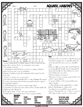 Habitats Crossword