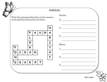 Habitats Crossword Puzzle