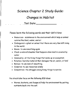 Habitats Cumulative Review and Test Prep 3rd Grade
