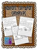 Habitats Cut Apart Sentences