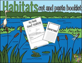 Habitats Cut and Paste Matching Mini Booklet