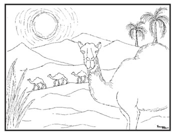 Habitats Desert Coloring Page Collection
