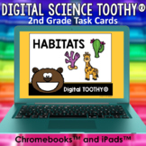 Habitats Digital Science Toothy ® Task Cards | Distance Le