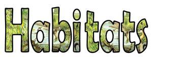 Habitats Display Lettering