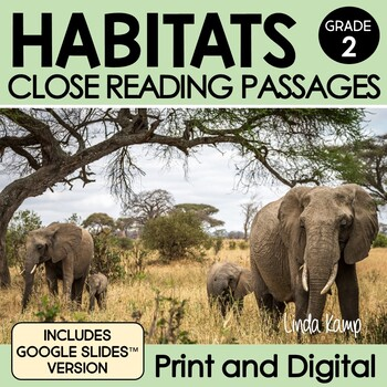 Habitats & Ecosystems 2nd Grade Close Reading Passages and Leveled Readers