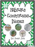 Habitats, Ecosystems & Biomes Lesson