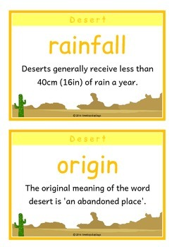 Habitats Fact Cards